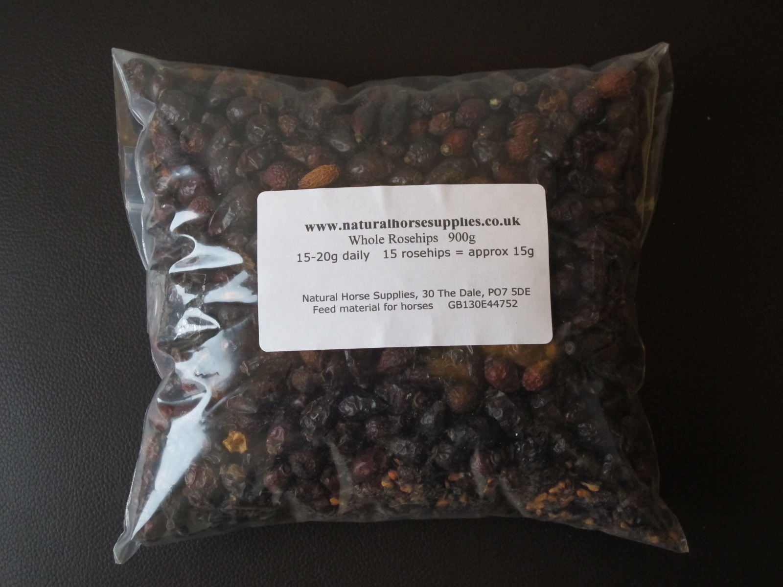 Whole rosehips 900g